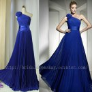 One shoulder Floor Length Formal Evening Prom Party Dress