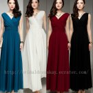 Simple V-neck Plus Size Evening Party Dress Dance Dress