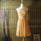 One Shoulder Knee Length Short Bridesmaid Dress Party Dress