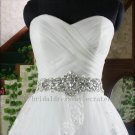 Custom A line Full Length Sweetheart Lace Bridal Wedding Dress