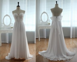 Custom Made Lace Strapless Sweetheart Bridal Wedding Dress