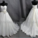 Simple Custom Plus Size Sweetehart Ivory Bridal Wedding Dress