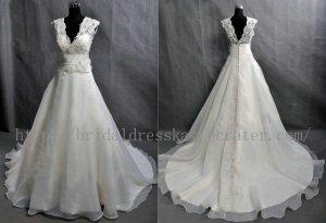 Simple Vintage Plus Size Custom Bridal Wedding Dress Gown