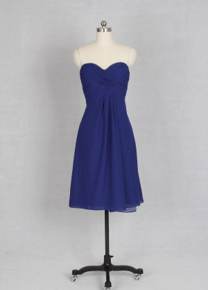Sweetehart Blue Short Bridesmaid Dress Wedding Party Dress