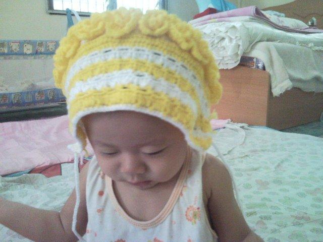 Vintage Crochet Hat (Headkerchief) for Little Girl