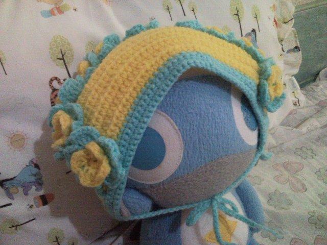 Free Shipping - Sweet Crochet Hat (Headkerchief) for Girl