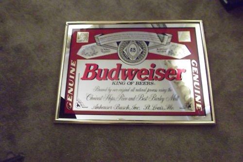BUDWEISER & COORS Mirror Beer Signs Vintage LOT (2)