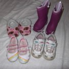 LANDS END, SKECHERS LOT (4 Pair) Girls Toddlers-Size 6