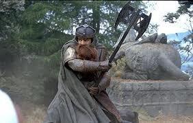 Battle Axe of Gimli - Antique Silver Finish