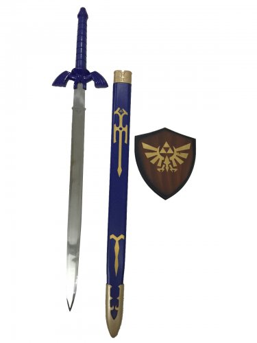 Legend of Zelda Ocarina of Time Link Cosplay Master Sword