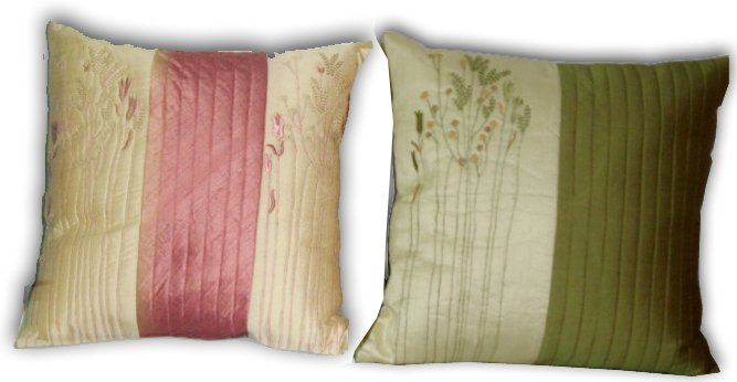 DECORATIVE PILLOW COVER SET OF 2PC OF PURE SILK