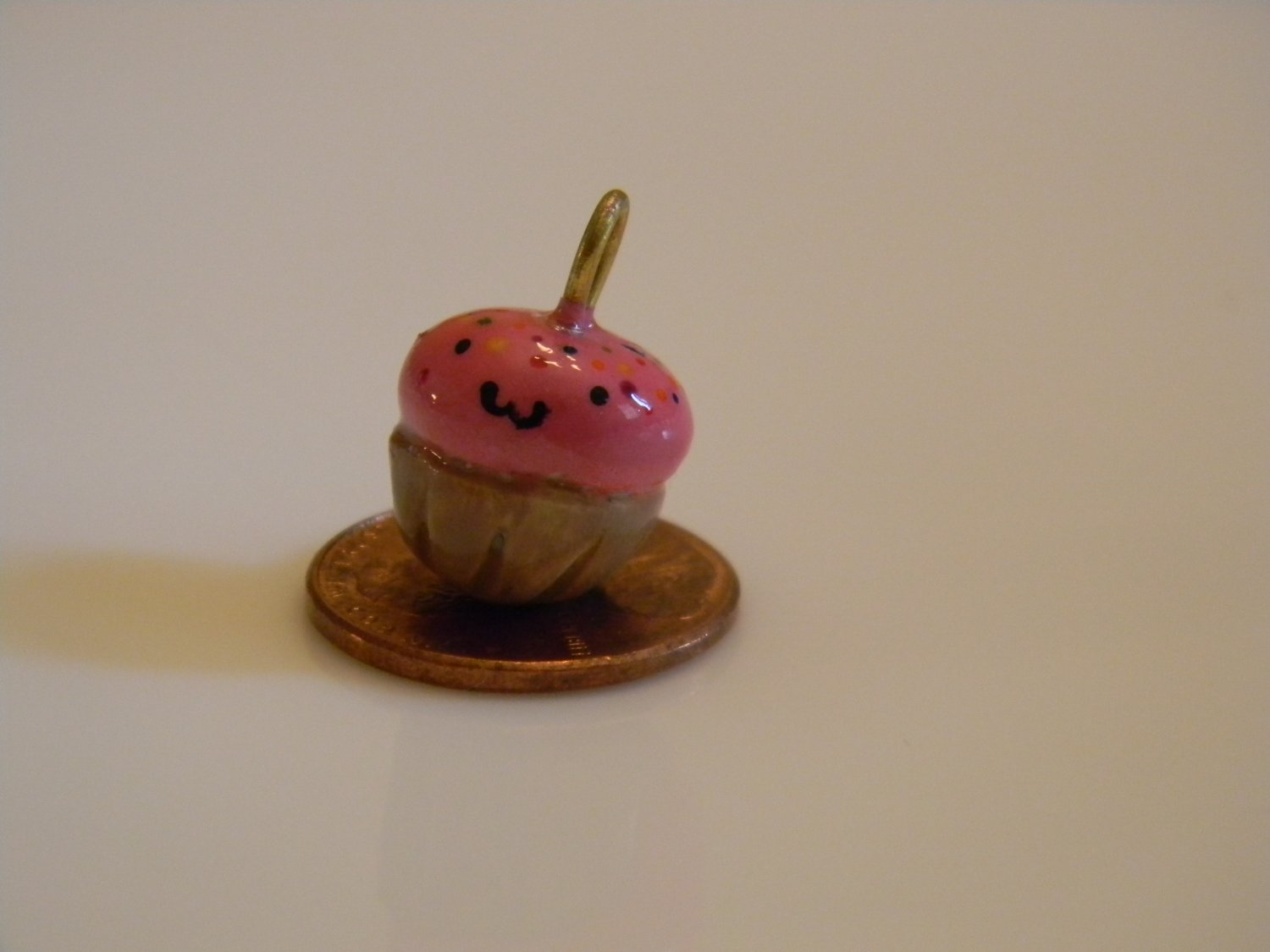 Tickled Pink Cupcake Charm