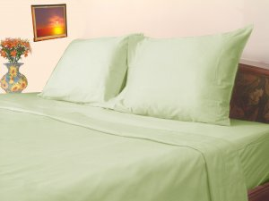 300 TC Sheet set 100% pure Cotton Solid Twin Sage