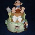 Max the Monkey Diaper Cake