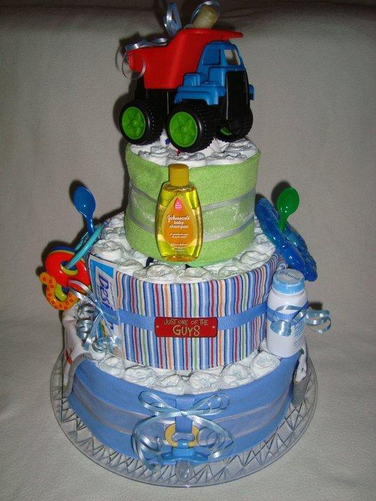 Trucks are for Toys Diaper Cake