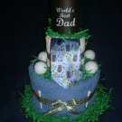 World's Best Dad Towel Cake