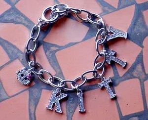 Hello Kitty Charm Bracelet with Swarovski Crystals