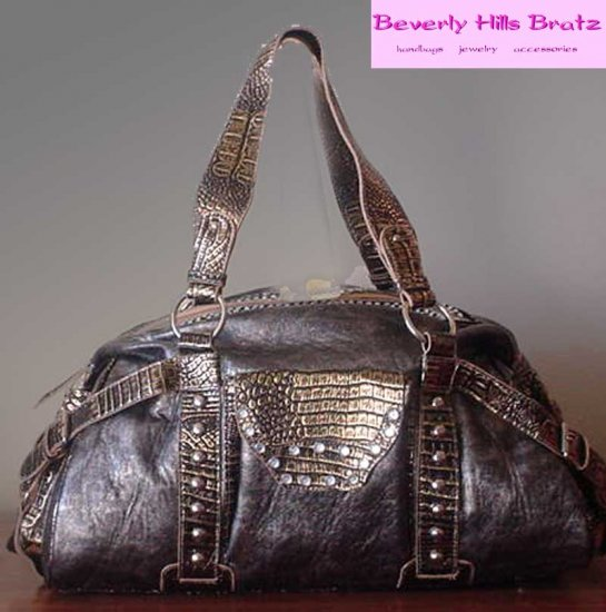 Papillon Satchel, Pewter  FREE Shipping