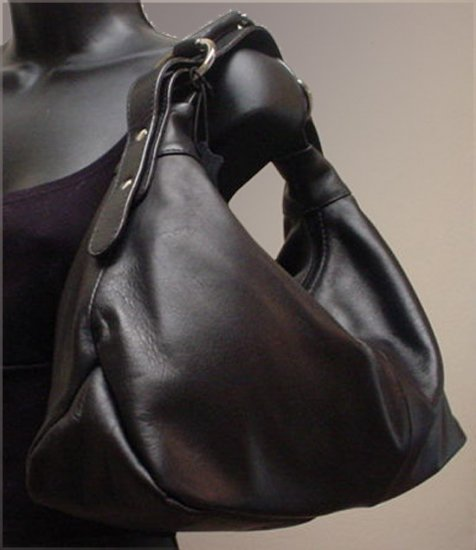 Horsebit Hobo Bag, Italian Leather