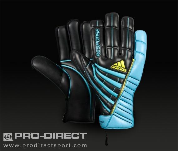 adidas - Response Graphic - Mens G/K Gloves - Blk/Aqua/Acid Buzz
