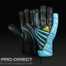 adidas - Response Graphic - Mens G/K Gloves - Blk/Aqua/Acid Buzz