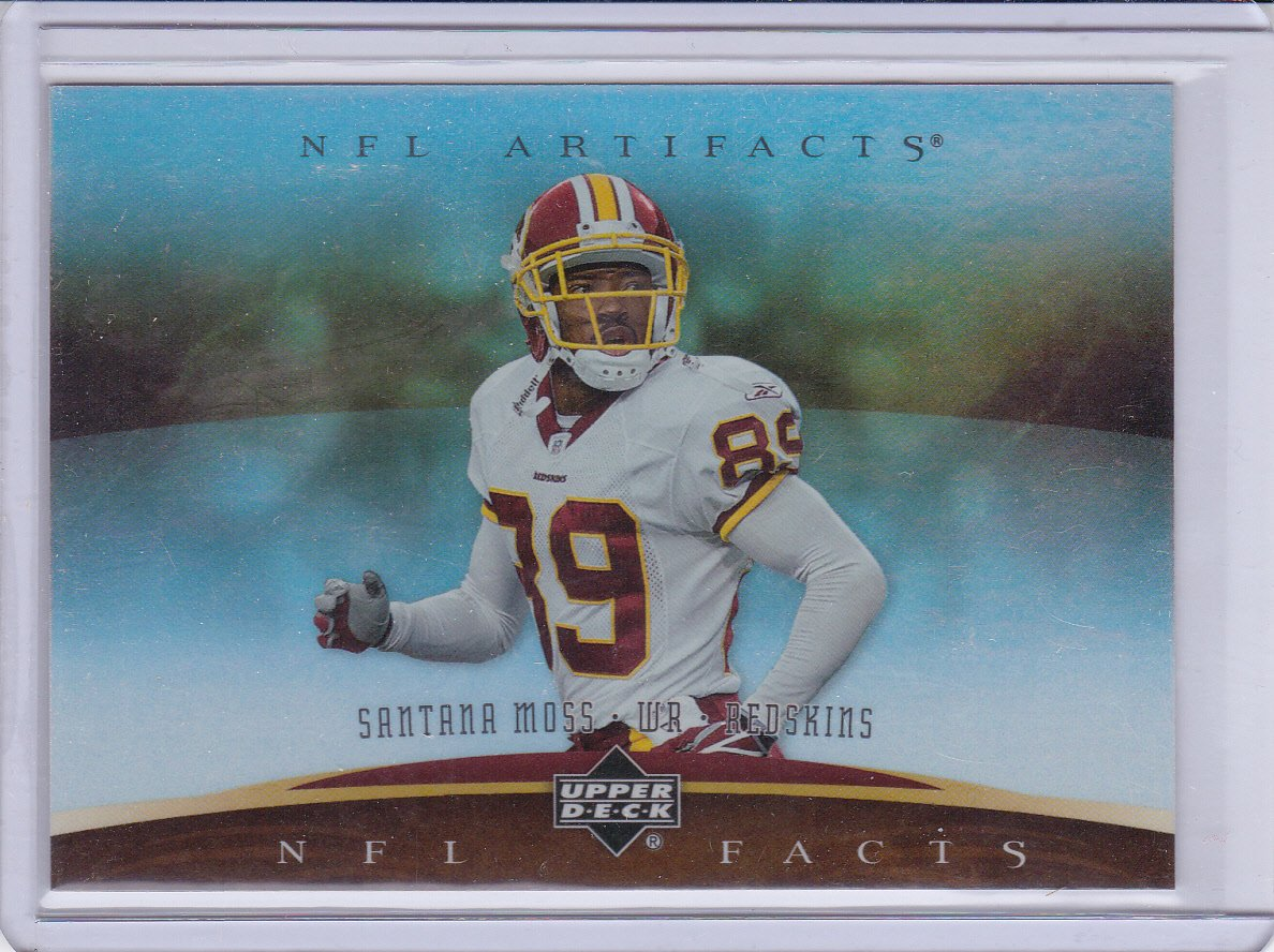 SANTANA MOSS 2007 ARTIFACTS NFL FACTS