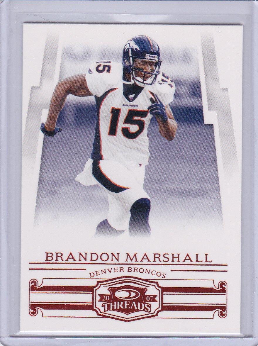 BRANDON MARSHALL 2007 DONRUSS THREADS RETAIL RED