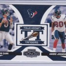 DAVID CARR ANDRE JOHNSON 2005 PLAYOFF HONORS TOUCHDOWN TANDEMS