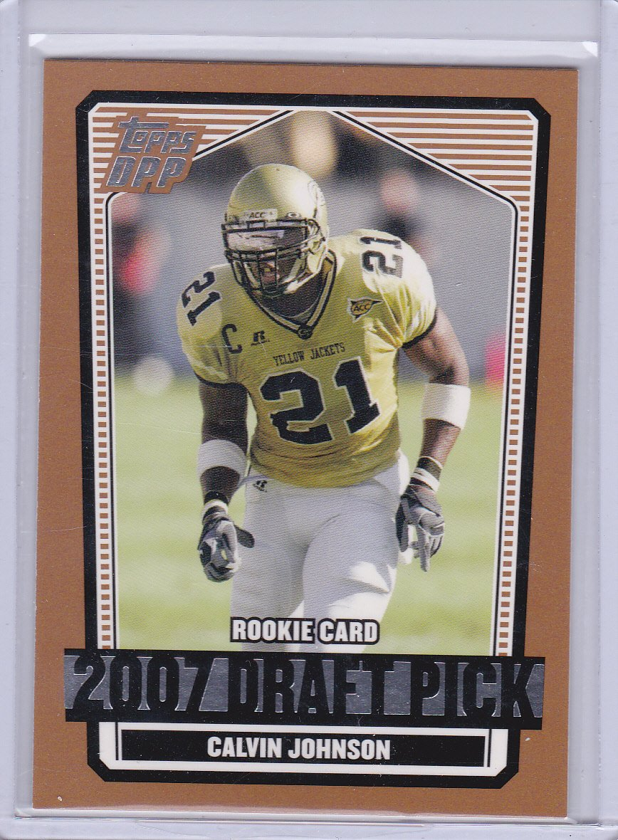 CALVIN JOHNSON 2007 TOPPS DPP ROOKIE