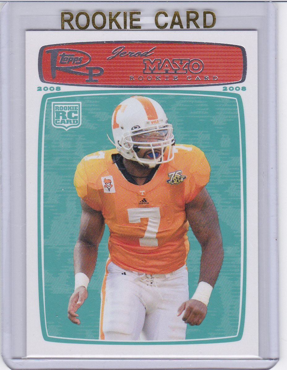 JEROD MAYO 2008 TOPPS ROOKIE PROGRESSION ROOKIE