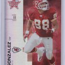 TONY GONZALEZ 2007 LEAF ROOKIES AND STARS SILVER HOLOFOIL #/99