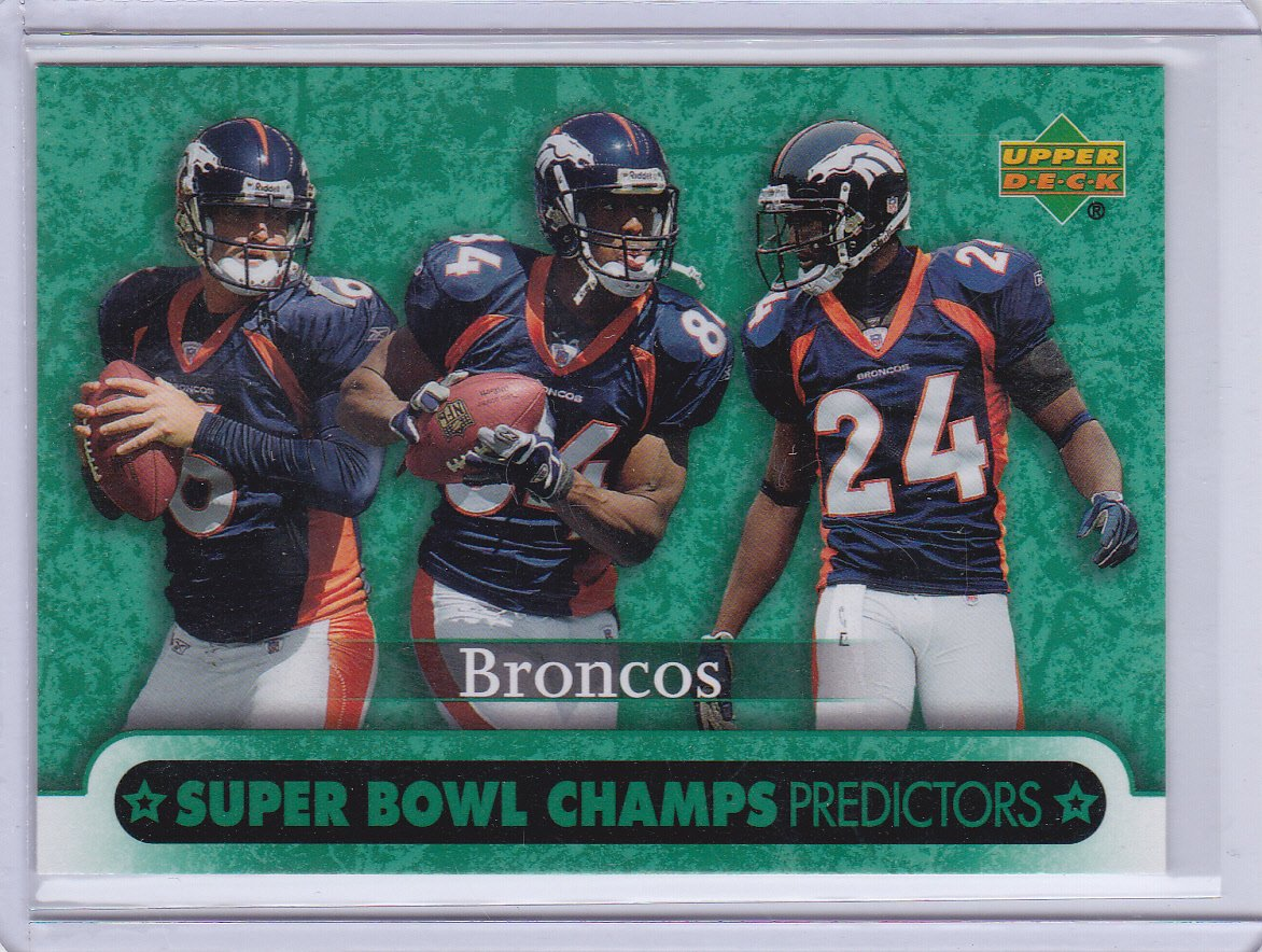 DENVER BRONCOS 2007 UPPER DECK SUPER BOWL CHAMPS PREDICTORS