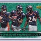DENVER BRONCOS 2007 UPPER DECK SUPER BOWL CHAMPS PREDICTORS