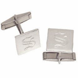Personalized Sterling Silver Engraved Cuff Links
