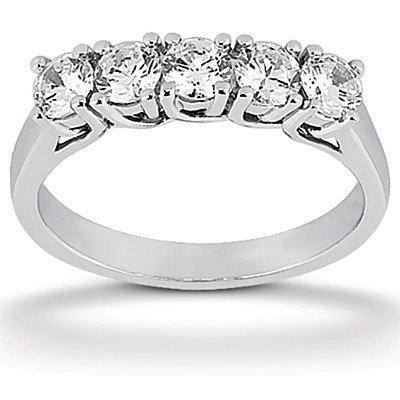 Designer inspired 5 Stone Lucida Set Diamond Wedding Band (0.50 ct. tw.)