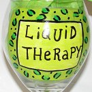 Liquid Therapy Leopard Hand Painted Wine Glass You choose your favorite colors