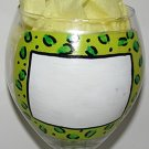 NAME IT Leopard Print Hand Painted Wine Glass