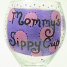 Mommy's Sippy Cup, or Name Your Glass, Any Color Polka-dots