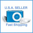 Blue Mini Clip Mp3 Player Support 8 GB Micro SD Card