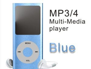 Blue 4GB 1.8 inch TFT Screen MP3 MP4 Media Player