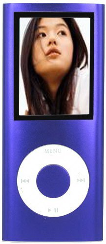 Purple 4GB 1.8 inch TFT Screen MP3 MP4 Media Player