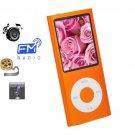 8GB Slim 1.8 LCD Mp3/Mp4 Music Video FM Radio Media Player Free Shipping ORANGE