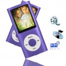 8GB Slim 1.8 LCD Mp3/Mp4 Music Video FM Radio Media Player Free Shipping PURPLE