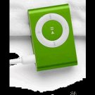 4GB Mini Metal Clip Mp3 Player Support TF/ Micro SD Card  GREEN