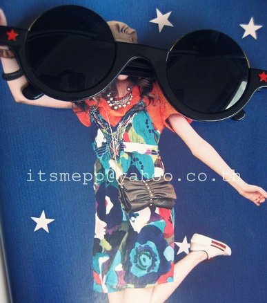 super cool half-frame round circle sunglasses