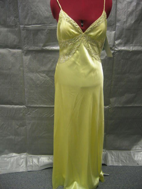 Size 7/8 NWT Yellow Sequin Formal Gown