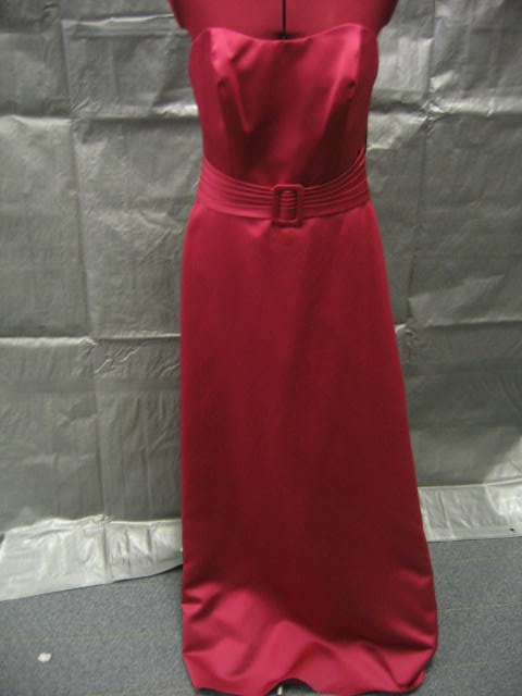 Size 12  NWT Long Red Alfred Angelo