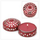 #14383 Jeweled Round Keepsake Candle