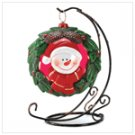 #14420 Snowman Wreath Tealight Stand