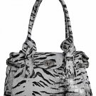 Tiger Print Flap Bag